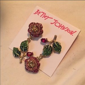 Betsey Johnson pave earrings.